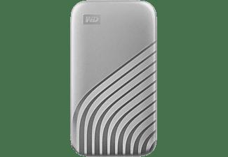 WD My Passport™, 500 GB SSD, 2,5 Zoll, extern, Silber