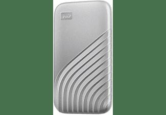 WD My Passport™, 2 TB SSD, 2,5 Zoll, extern, Silber