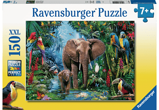 RAVENSBURGER Dschungelelefanten Puzzle Mehrfarbig