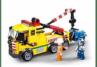 SLUBAN Abschleppwagen mit Kran (205 Teile) Klemmbausteine, Mehrfarbig