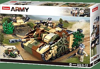 SLUBAN WWII - Deutscher Jagdpanzer Klemmbausteine, Mehrfarbig