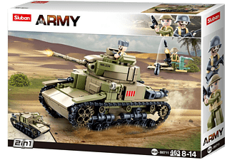 SLUBAN WWII - Mittlerer Ital. Panzer (463 Teile) Klemmbausteine, Mehrfarbig