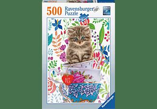 RAVENSBURGER Kätzchen im Tässchen Puzzle Mehrfarbig