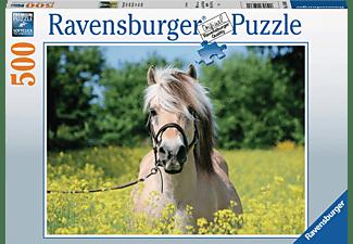 RAVENSBURGER Pferd im Rapsfeld Puzzle Mehrfarbig
