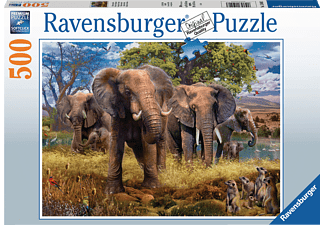 RAVENSBURGER Elefantenfamilie Puzzle Mehrfarbig