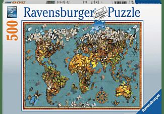 RAVENSBURGER Antike Schmetterling-Weltkarte Puzzle Mehrfarbig