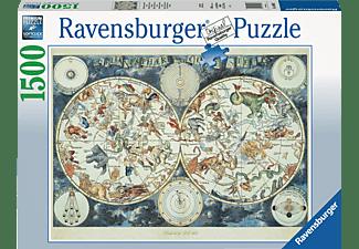 RAVENSBURGER Weltkarte mit fantastischen Tierwesen Puzzle Mehrfarbig