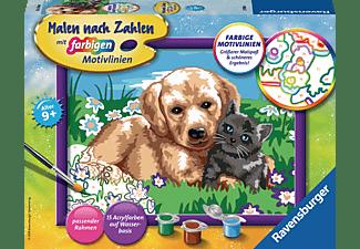 RAVENSBURGER Hund und Katze Malset Mehrfarbig