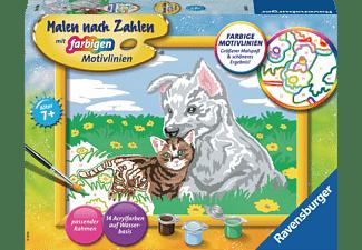 RAVENSBURGER Süße Tierkinder Malset Mehrfarbig