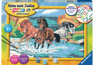 RAVENSBURGER Stolze Wildpferde Malset Mehrfarbig