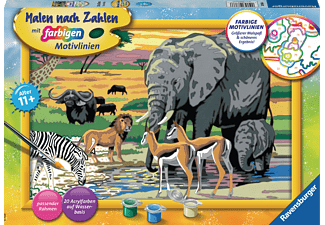 RAVENSBURGER Tiere in Afrika Malset Mehrfarbig