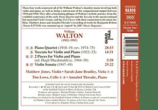 Jones,Matthew/Bradley,Sarah/Lowe,Tim/Thwaite,A. - PIANO QUARTET - VIOLIN SONATA - TOCCATA  - (CD)