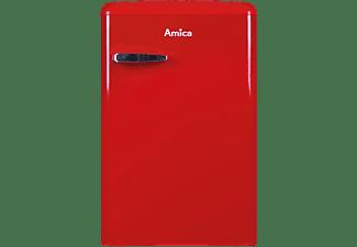 AMICA KS 15610 R Kühlschrank (E, 875 mm hoch, Rot)