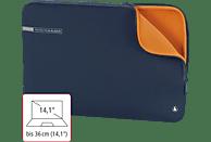HAMA Neoprene 14.1 Zoll Notebook-Sleeve für Universal Neopren, Blau/Orange
