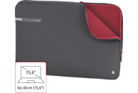 HAMA Neoprene Notebooktasche Sleeve für Universal Neopren, Grau/Rot