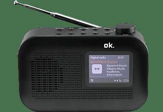 OK. ORD 130 DAB+ Radio, DAB+, FM, DAB, Bluetooth, Schwarz