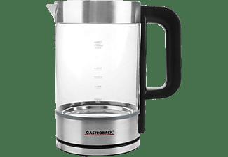 GASTROBACK 42442 Design Basic Wasserkocher, Silber/Schwarz/Transparent