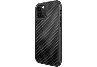 BLACK ROCK Robust Real Carbon, Backcover, Apple, iPhone 12/12 Pro, Schwarz