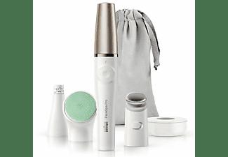 Depiladora facial - Braun FaceSpa Pro 913, Limpieza, Tonificación, Recargable, Cabezales