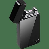 ISY Lichtbogen Feuerzeug IEL-1000, über USB aufladbar, schwarz