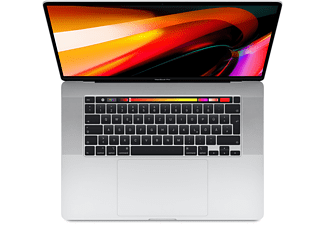 APPLE MVVL2D/A MacBook Pro, Notebook mit 16 Zoll Display, Intel® Core™ i7 Prozessor, 16 GB RAM, 512 GB SSD, Radeon Pro 5300M, Silber