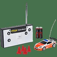 CARSON 1:60 Nano Racer Feuerwehr 27MHz 100% RTR Spielzeugmodell, Weiß/Orange