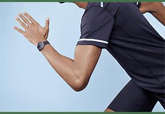 WITHINGS ScanWatch Smartwatch Edelstahl Silikon, 18 mm, Schwarz