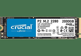 CRUCIAL P2, 2 TB, SSD, intern