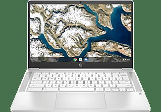 HP 14a-na0305ng, Chromebook mit 14 Zoll Display, Intel® Celeron® Prozessor, 4 GB RAM, 64 GB eMMC, Intel® UHD Grafik 600, Weiß
