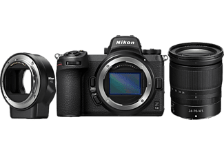NIKON Z 6II Systemkamera mit Objektiv Z 24-70mm f4 S und Bajonettadapter FTZ