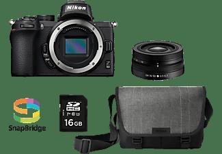 NIKON Z 50 Kit Systemkamera mit Objektiv 16-50 mm, 8 cm Display Touchscreen, WLAN
