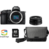 NIKON Z 50 Kit Systemkamera mit Objektiv 16-50 mm, 8 cm Display Touchscreen, WLAN