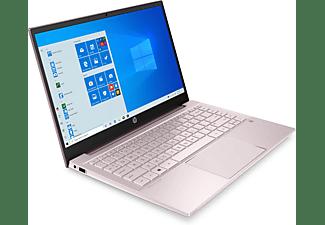 HP Pavilion 14-dv0300ng, Notebook mit 14 Zoll Display, Intel® Core™ i3 Prozessor, 8 GB RAM, 512 GB SSD, Intel® UHD Grafik, Pink