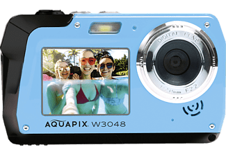 EASYPIX Easypix Aquapix W3048 Edge Unterwasserkamera blau, k.A. opt. Zoom, Dual-Display