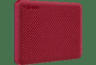 TOSHIBA Canvio Advance Festplatte, 2 TB HDD, 2,5 Zoll, extern, Rot