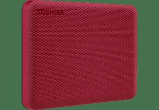 TOSHIBA Canvio Advance, 2 TB HDD, 2,5 Zoll, extern, Rot