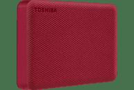 TOSHIBA Canvio Advance, 4 TB HDD, 2,5 Zoll, extern, Rot