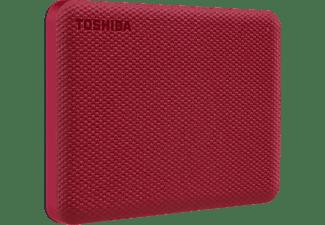 TOSHIBA Canvio Advance Festplatte, 1 TB HDD, 2,5 Zoll, extern, Rot
