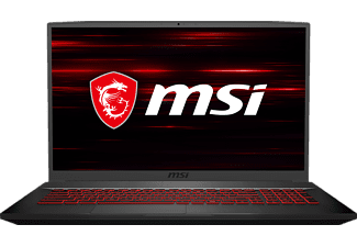 MSI GF75 10SDR Thin, Gaming Notebook mit 17,3 Zoll Display, Intel® Core™ i7 Prozessor, 16 GB RAM, 512 GB SSD, GeForce GTX 1660 Ti, Schwarz