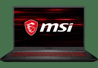 MSI GF75 10SER Thin, Gaming Notebook mit 17,3 Zoll Display, Core™ i7 Prozessor, 16 GB RAM, 512 GB SSD, GeForce RTX 2060, Schwarz