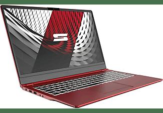 SCHENKER SLIM 15 - L19bgm, Notebook mit 15,6 Zoll Display, Core™ i7 Prozessor, 16 GB RAM, 500 GB mSSD, Intel UHD Graphics, Rot