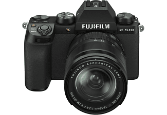FUJIFILM X-S10 Kit Systemkamera mit Objektiv 18-55 mm, 7,6 cm Display Touchscreen, WLAN