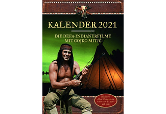Gojko Mitic - Wandkalender 2021 DIN A4 + DVD große Bärin DVD