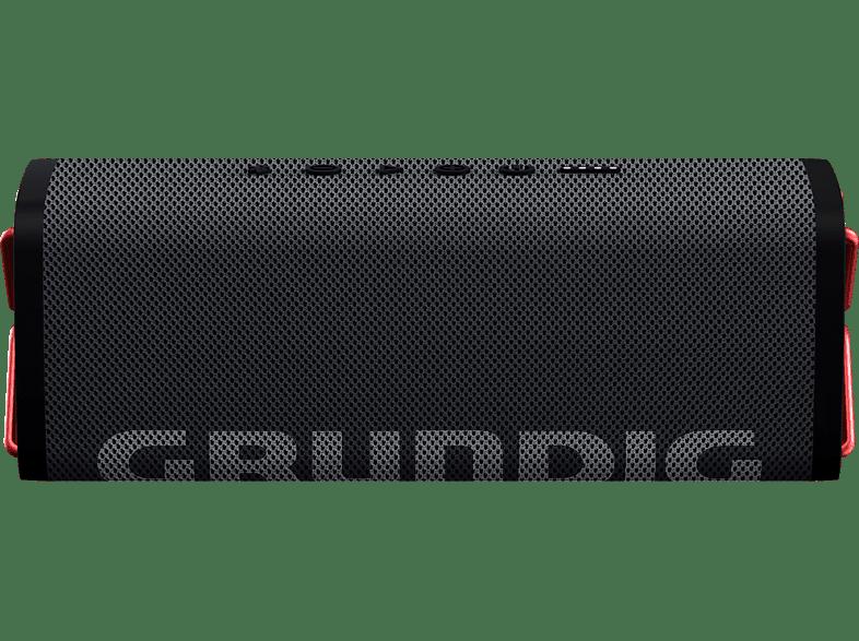 GRUNDIG GBT CLUB Bluetooth Lautsprecher, Schwarz, Wasserfest