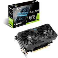 ASUS Grafikkarte Dual GeForce RTX 2060 Mini OC 6GB, DUAL-RTX2060-O6G-MINI (90YV0CJ5-M0NA00)