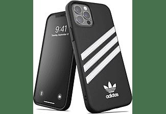ADIDAS ORIGINALS Moulded Case, Backcover, Apple, iPhone 12 / 12 Pro, Schwarz/Weiß