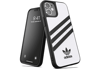 ADIDAS ORIGINALS Moulded Case, Backcover, Apple, iPhone 12 Mini, Weiß/Schwarz