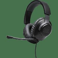 JBL Gaming Headset Quantum 100 Schwarz, 3.5mm Klinke, (JBLQUANTUM100BLK)