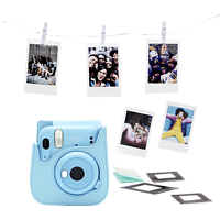 FUJIFILM instax mini 11 Sky-Blue Bundle Sofortbildkamera, SKY-BLUE