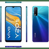 "Móvil - Vivo Y20S, Azul, 128 GB, 4 GB, 6,51"" HD+, Snapdragon 460, Triple cámara, 5000 mAh, Android"